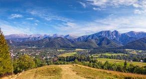 Panoramic view of Tatra Mountain Royalty Free Stock Image
