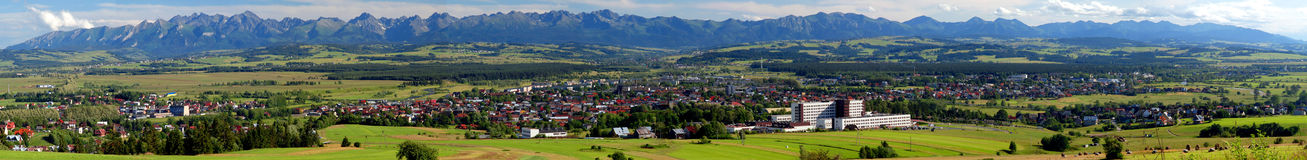 Panoramic view of Tatra Mountains royalty free stock photo