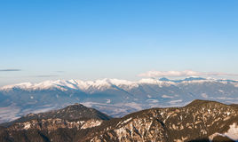 Panoramic view of Tatra Mountains from Chopok peak Royalty Free Stock Images