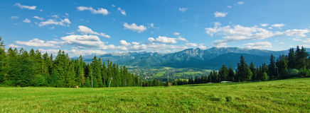 Panoramic view of Tatras Stock Photos