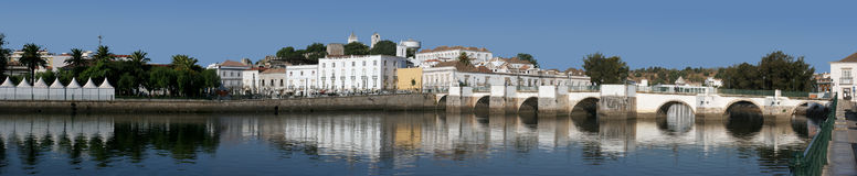 Panoramic view of Tavira. Portugal- Algarve royalty free stock image