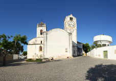 Panoramic view of Tavira (church of SANTA MARIA DO Stock Image