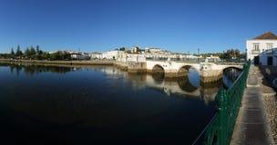 Panoramic view of Tavira, a historic city in Algar Stock Photography