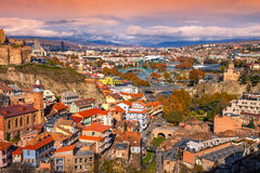 Panoramic view of Tbilisi Royalty Free Stock Photos
