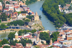 Panoramic view of Tbilisi Royalty Free Stock Photography