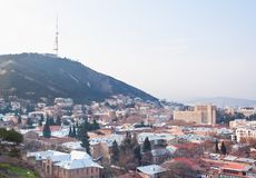 Panoramic view. Tbilisi. Georgia. Stock Photos