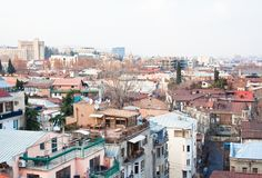 Panoramic view. Tbilisi. Georgia. Stock Images