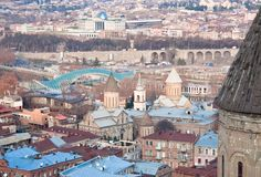 Panoramic view. Tbilisi. Georgia. Royalty Free Stock Photo
