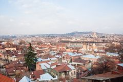 Panoramic view. Tbilisi. Georgia. Stock Image
