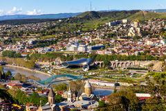 Panoramic view of Tbilisi, Georgia Royalty Free Stock Photography