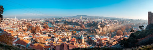 The Panoramic View Of Tbilisi, Georgia In autumn Stock Photography