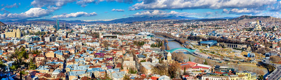 Panoramic view of Tbilisi, Georgia. Panoramic view of Tbilisi, the capital of Georgia Royalty Free Stock Images