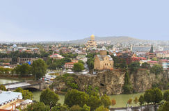 Panoramic view of Tbilisi, Georgia Stock Photography