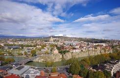 Panoramic view of Tbilisi, Georgia. Stock Photo