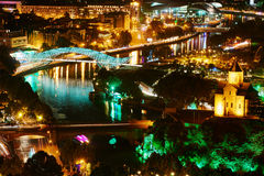 Panoramic view of Tbilisi in Georgia, Europe Royalty Free Stock Photos