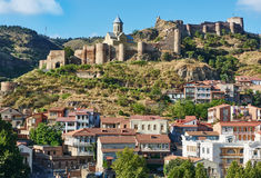 Panoramic view of Tbilisi in Georgia, Europe Royalty Free Stock Images