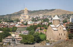 Panoramic view of Tbilisi, Georgia Royalty Free Stock Image