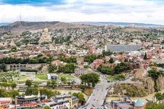 Panoramic view of Tbilisi, Georgia Stock Photo