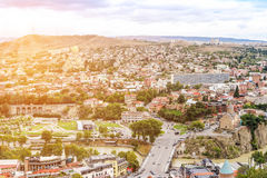 Panoramic view of Tbilisi, Georgia Royalty Free Stock Images