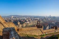 The Panoramic View Of Tbilisi from Narikala castle, Sameba, Mete Royalty Free Stock Image