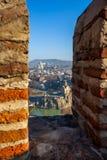 The Panoramic View Of Tbilisi from Narikala castle, Sameba, Mete Royalty Free Stock Photos