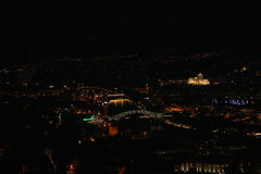 Panoramic view of Tbilisi at night Royalty Free Stock Image