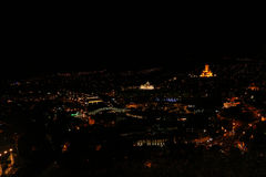 Panoramic view of Tbilisi at night Royalty Free Stock Photography