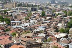 Panoramic view of Tbilisi Stock Photography