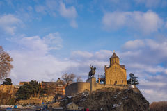 Panoramic view of Tbilisi at sunset Stock Photography