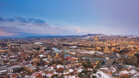 Panoramic view of Tbilisi at sunset Stock Photos