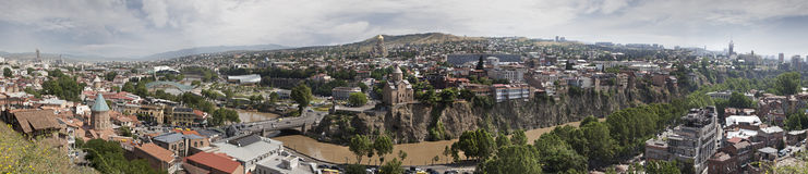 Panoramic view of Tbilisi town. Georgia Royalty Free Stock Photos