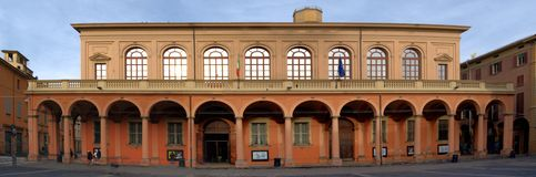 Panoramic view of Teatro Comunale of Bologna, Italy stock image