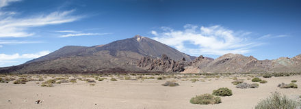 Panoramic view of the Teide Stock Images