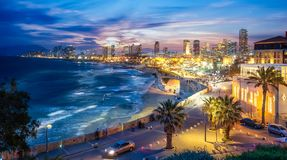 Panoramic view of Tel Aviv royalty free stock images