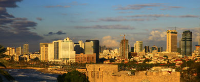 Tel Aviv, Israel. Twilight. Panoramic View of the Tel Aviv, Israel. Twilight Stock Photo