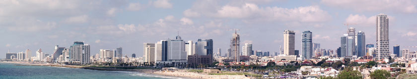 Panoramic view of  Tel Aviv Stock Image