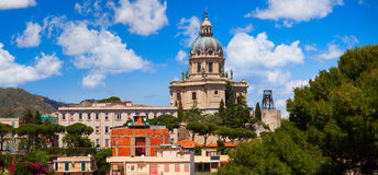 Panoramic view of the Temple Christ the King. Italy Stock Image