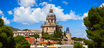 Panoramic view of the Temple Christ the King. Italy Royalty Free Stock Photo