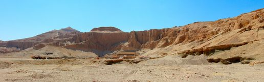 Panoramic view of the temple of Hatshepsut Royalty Free Stock Photography
