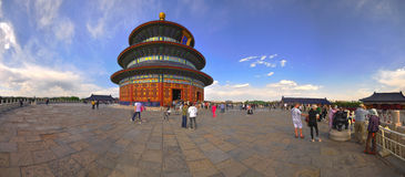 Panoramic view of the Temple of Heaven Stock Image