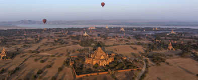 Panoramic view -  Bagan Temples - Myanmar (Burma) Stock Photo