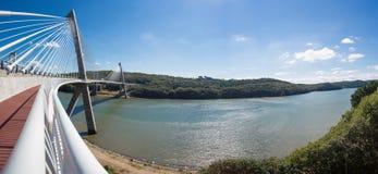 Panoramic view of the Terenez bridge Stock Image