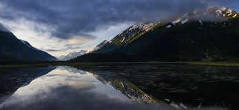 Panoramic view of Tern Lake, Alaska Stock Images