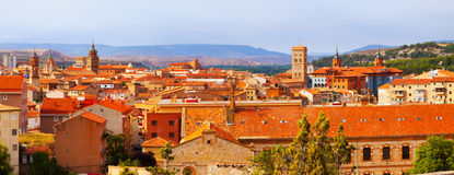 Panoramic  view of Teruel with main landmarks Royalty Free Stock Photography