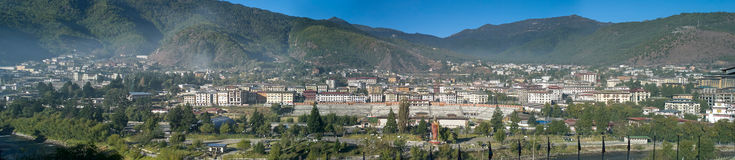 Panoramic view Thimphu Stock Image