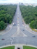 Panoramic View of Tiergarten Park from Victory Column in Berlin Stock Photo