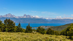 Panoramic view, Tierra del Fuego National Park, Ushuaia, Argentina Stock Image