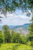 Panoramic view to a Aalen in germany Royalty Free Stock Photography