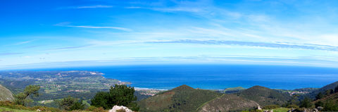 Panoramic view to Atlantic ocean Royalty Free Stock Photos