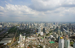 Panoramic view to the Bangkok Royalty Free Stock Photos